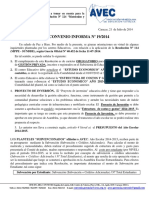 Convenio Nº 19-2014