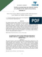AUMENTO DA EFICIÊNCIA DO PROCESSO DE CORTE DE CHAPAS DE ALUMÍNIO NA PRODUÇÃO DE AERONAVES LEVES DA AEROBRAVO