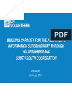 Building Capacity for the AP-Is Through Volunteerism & South-South Cooperation, UNV
