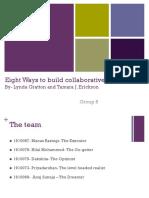 Eight Ways to Build OB1 Group Presentation