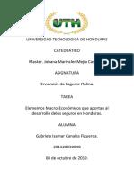 Economia de Seguro Tarea 2 Gabriela Canales