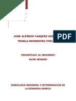 Sismologia Ingenieril y Determinacion de La Demanda Sismica_jose Vasquez_yeisila Rodriguez