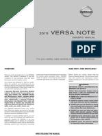 2015 VersaNote Owner Manual