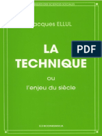Ellul Jacques La Technique Ou l Enjeu Du Siecle 2014