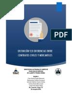 Distincion entre contratos mercantiles y civiles