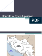 Conflict in the former Yugoslavia (in polish)