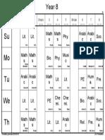 Year 8- 2019-2020 Schedule.PDF