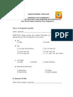 Questionnaire Micro