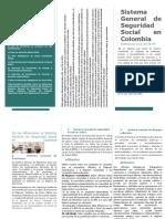 folleto ejemplo de sistema de seguridad social