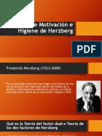 Teoría de Motivación e Higiene de Herzberg
