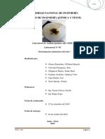 Laboratorio N° 05, Análisis yodométrico del cobre