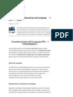 HP Prime - Consideraciones del Lenguaje PPL - 1° Parte