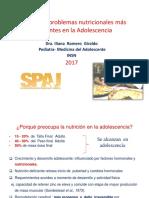 Manejo de Problemas Nutricionales en Adolescencia Spaj Nov 2017