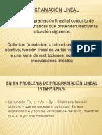 Aplicaciones de Programacion Lineal
