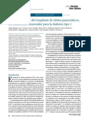 trasplante pancreático para diabetes