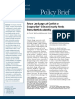 Future Landscapes of Conflict or Cooperation? Climate Security Needs Transatlantic Leadership