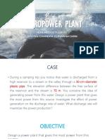 Hydro Power Plant Fluid Mechanics Problem Solution