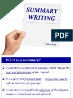 Summary Writing ZS1