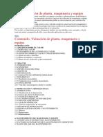 Libro Valuación de Maquinaria, Planta y Equipo
