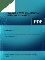 Del Derecho Informático Al Derecho Telemático