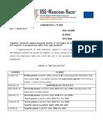 70DIR-Esposizione Programmi Liste Elettorali Alunni OOCC