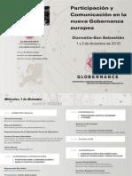 Participación y Comunicación en la Gobernanza Europea