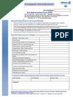 pre authorization form