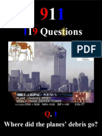 9/11 119 Questions. Free Book. October 2019.