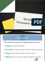 Writing Persuasive Essays 2016
