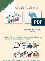 DIAPOSITIVAS Necesidades y Deseos Patricia Dueñas