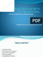 Cost and Management Ppt
