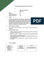 Syllabus Analisis Estructural Uno