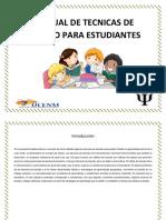 Manual de Tecnicas de Estudio Para Estudiantes