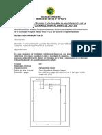 Especificaciones Tècnicas MANTENIMIENTO COMEDOR