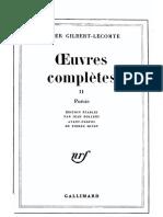 Œuvres Complètes II (éditions Gallimard, 1977)