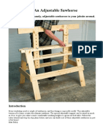 How to Build an Adjustable Sawhorse
