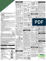 Instrucciones Medidor de Azucar Refractometro Digital Brix Atago Pal 1