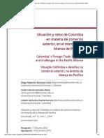 Situación y Retos de Colombia en Materia de Comercio Exterior, En El Marco de La Alianza Del Pacífico