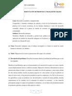 Elaboración y Presentación de Propuesta Trabajos de Grado