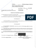 Sandoval Unredacted Warrant