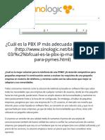 ¿Cuál es la PBX IP más adecuada para PYMES_