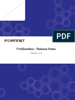 Fortisandbox v3.1.0 Release Notes