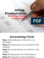 accounting cycle by ballada