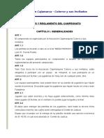Bases y Reglamento Del Campeonato