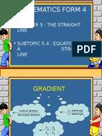 The Straight Line - Slide
