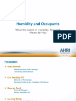 Humidity Control and Occupants