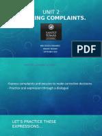 Unit 2 Handling Complaints