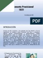 Reglamento Provisional - D° IV
