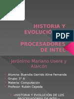 Historia y Evolución de Los Procesadores de Intel