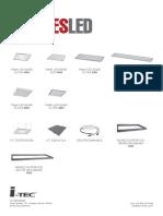 Luminaria LED 60x60 - 48 W